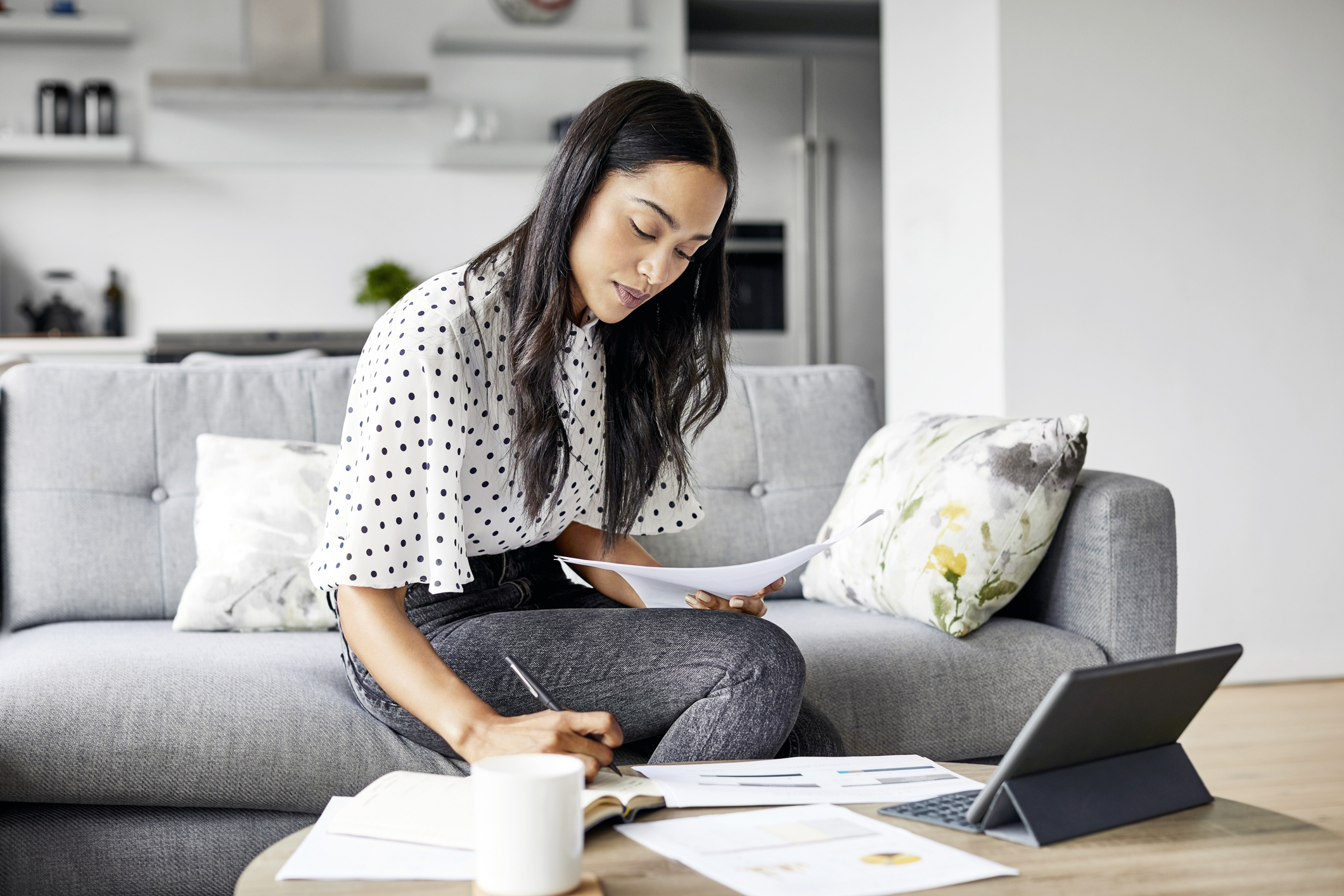 Vrouwen hebben lagere financiële gemoedsrust